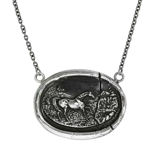 Pyrrha Horse Cameo Necklace