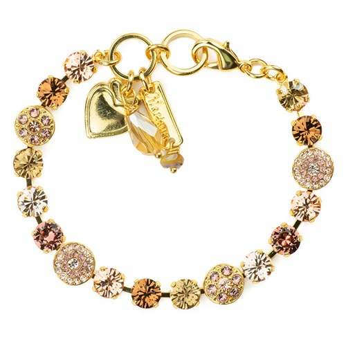 Mariana My Butterfly Collection Rosette in Meadow Brown Gold-Plated Bracelet with Swarovski Crystals
