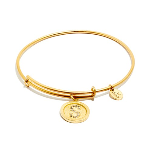 Chrysalis Initial S Gold Bangle