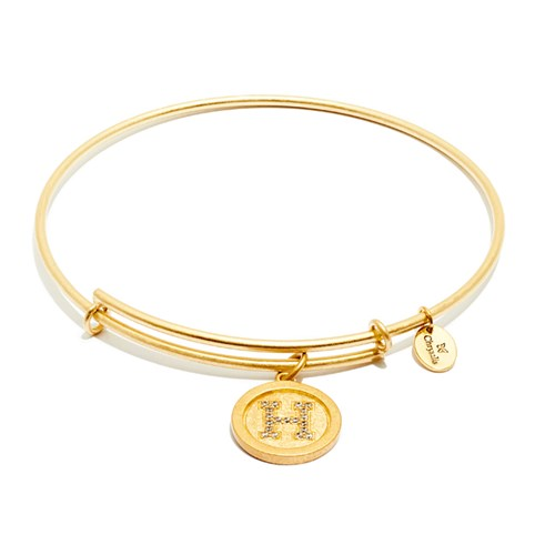 Chrysalis Initial H Gold Bangle