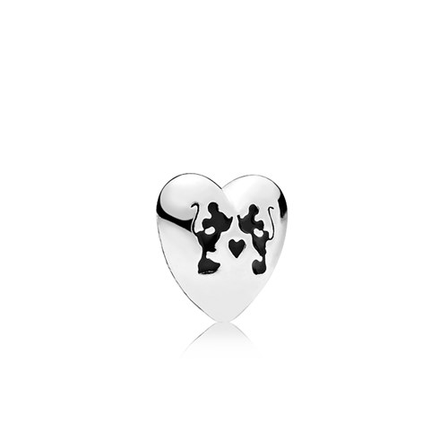 PANDORA Disney Mickey & Minnie Kiss Petite Locket Charm 796347EN16