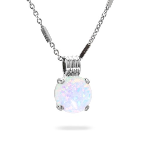 Mariana Snowflake Opal Necklace N-5445SO-M9-RO