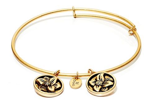 Chrysalis Daffodil March Gold Bangle