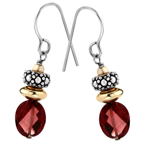 Elisa Ilana Rhodolite Garnet Earrings
