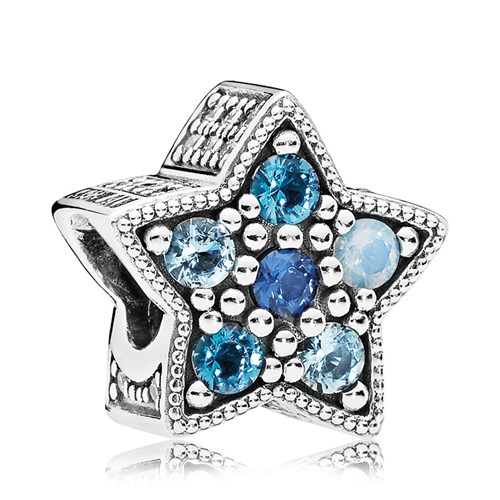 PANDORA Bright Star Multi-Colored Crystals Charm