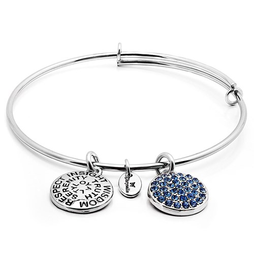 Chrysalis SEPTEMBER Sapphire Crystal Bangle