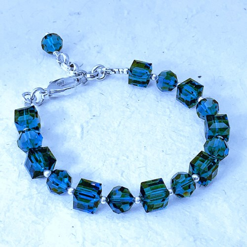 The Pomme Collection -  Montana Sapphire Crystal Bracelet 11100B