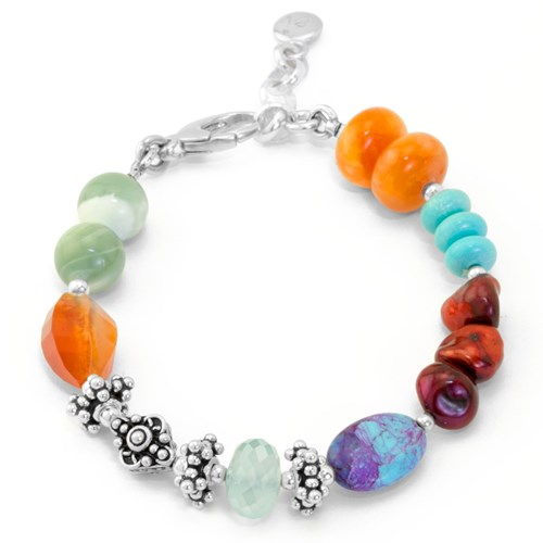 Impressionist Collection Carnelian & Turquoise Bracelet 10850B2