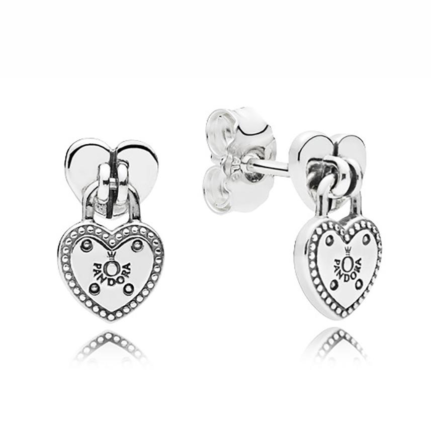 Pandora Women Silver Stud Earrings - 297123NLC j091Xb