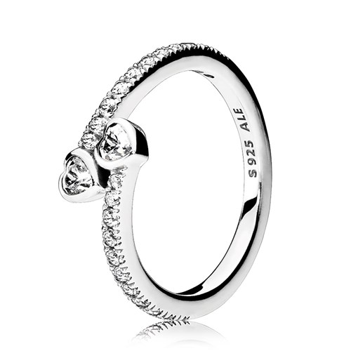 PANDORA Forever Hearts, Clear CZ Ring