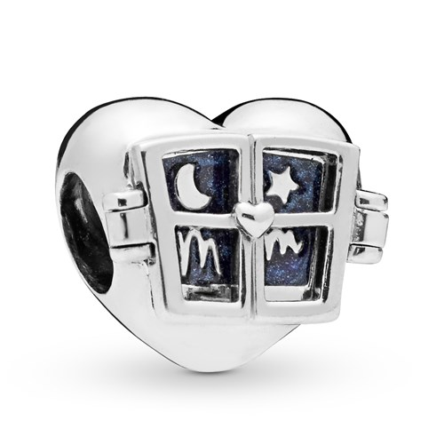 PANDORA Window Heart Charm 798006EN63