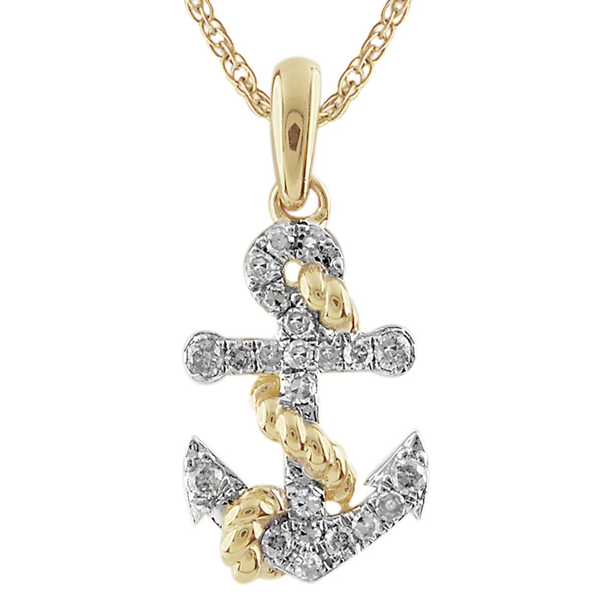 Diamond anchor pendant 341561 elisa ilana aloadofball Choice Image