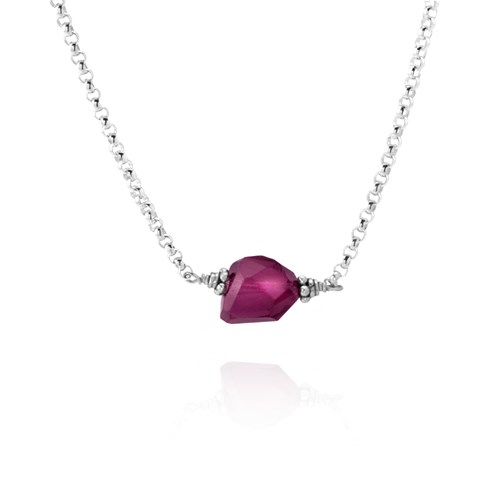 Elisa Ilana Pink Tourmaline Necklace