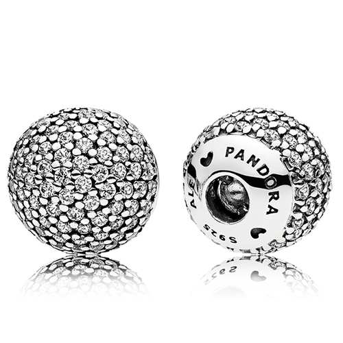 PANDORA Pavé Fancy Clear CZ Open Bangle Caps