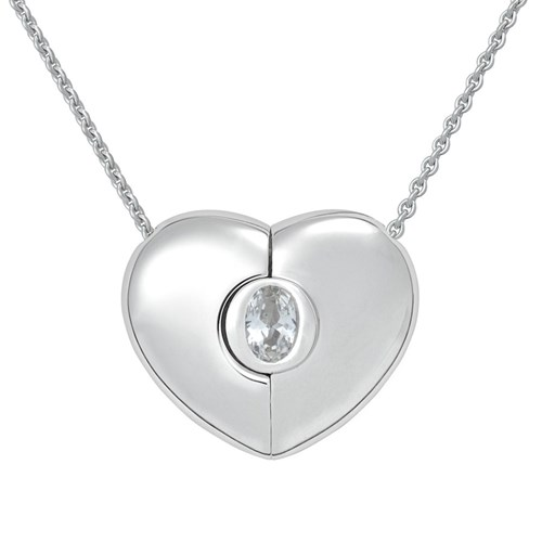 Petra Azar April Heart Necklace