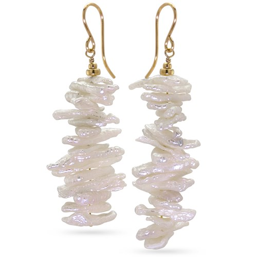 Keshi Stick Pearl Earrings 10992E