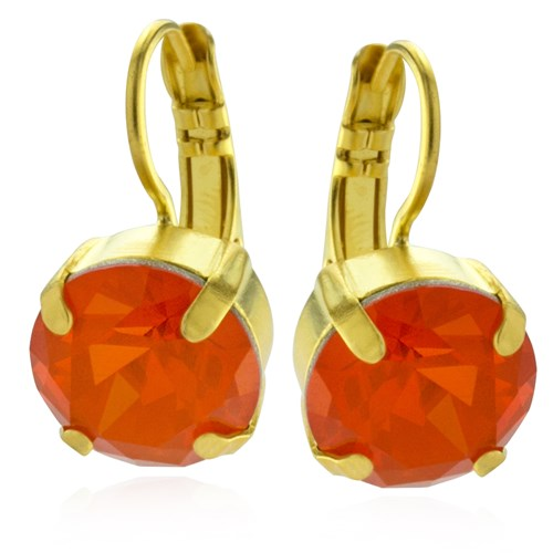 Mariana Orange Drop Earrings
