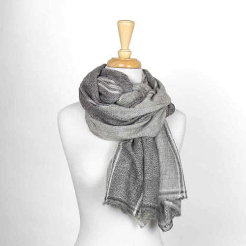 Light Gray Unisex Wool Scarf 10314F
