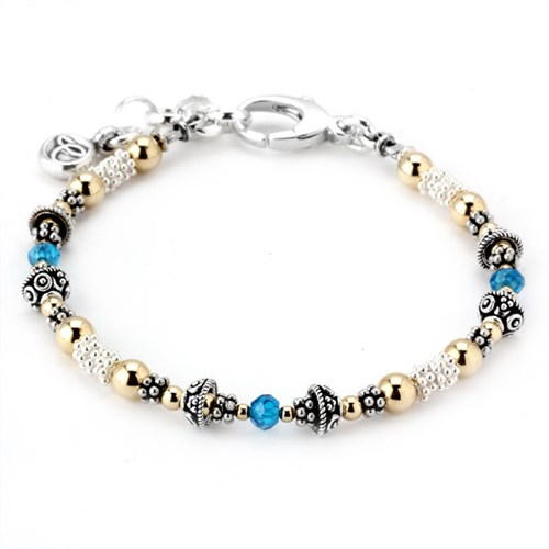 Elisa Ilana London Blue Topaz Birthstone Bracelet