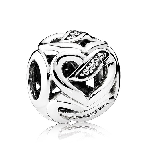 PANDORA Ribbons of Love, Clear CZ Charm
