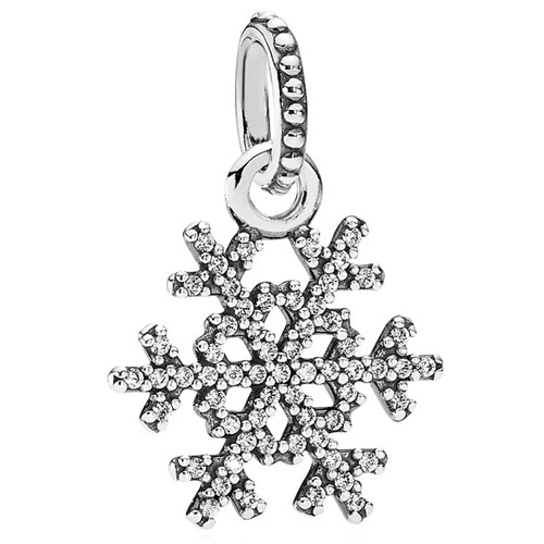 PANDORA Winter Kiss Snowflake with Clear CZ Pendant