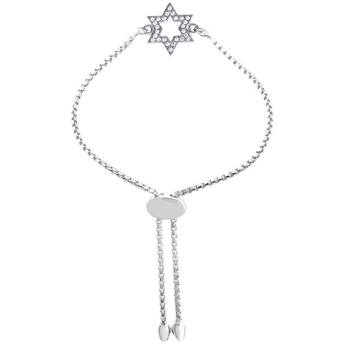 Magda Star of David CZ Friendship Bracelet Silver