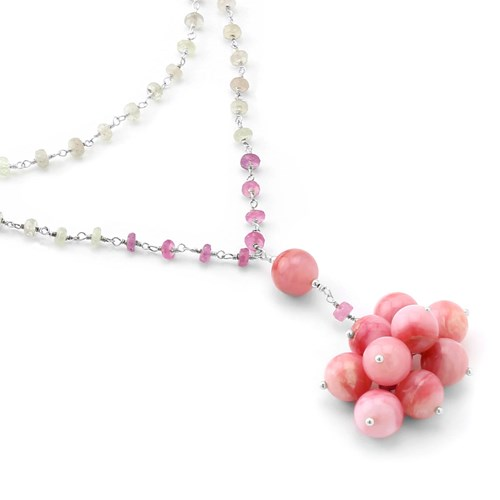 Pink Sapphire & Opal Necklace