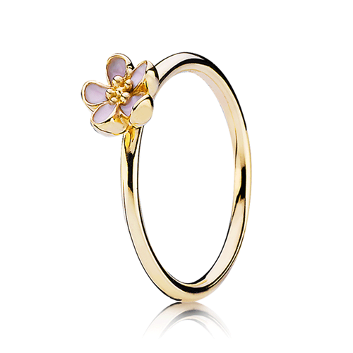 PANDORA 14K Cherry Blossom Stackable Ring