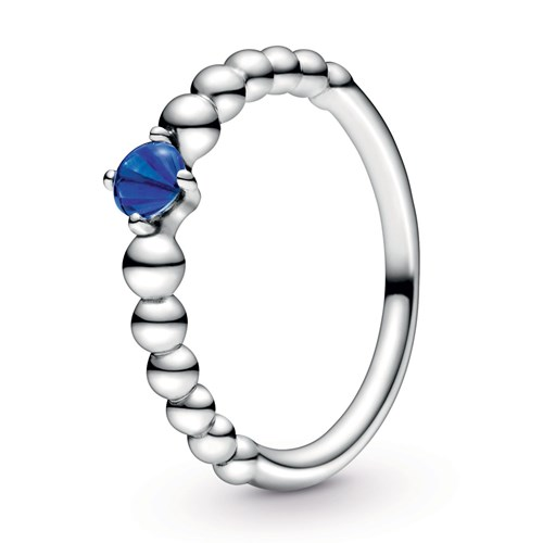 Pandora Sea Blue Beaded Ring 198598C12