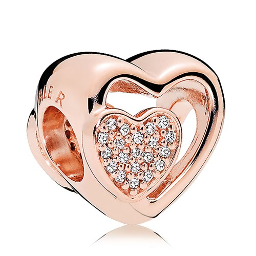 PANDORA Rose  Gold CZ Joined Together Charm