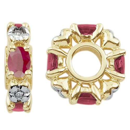 Storywheels Ruby & Diamond 14K Gold Wheel