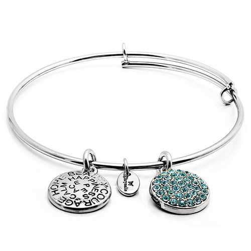 Chrysalis MARCH Aquamarine Crystal Bangle