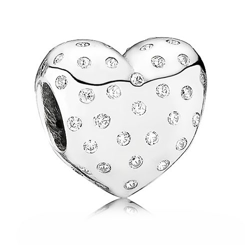 PANDORA Sparkle of Love Heart with Clear CZ Charm