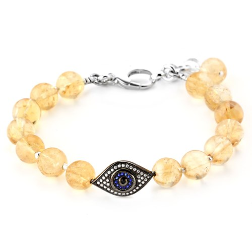Lollies Citrine Evil Eye Bracelet