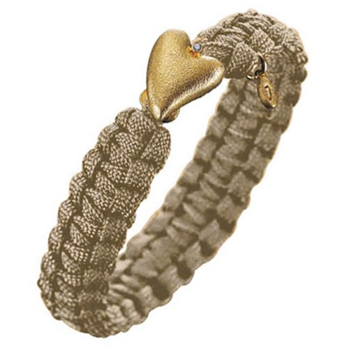 From Soldier to Soldier Sand Gold Heart & Diamond Clasp Bracelet