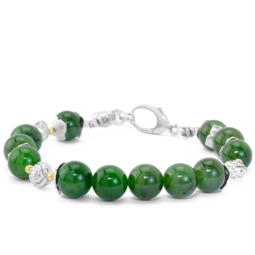 The Goddess Collection Jade & Flower Bracelet