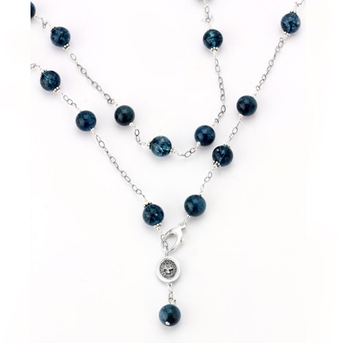 Elisa Ilana Blue Topaz Necklace