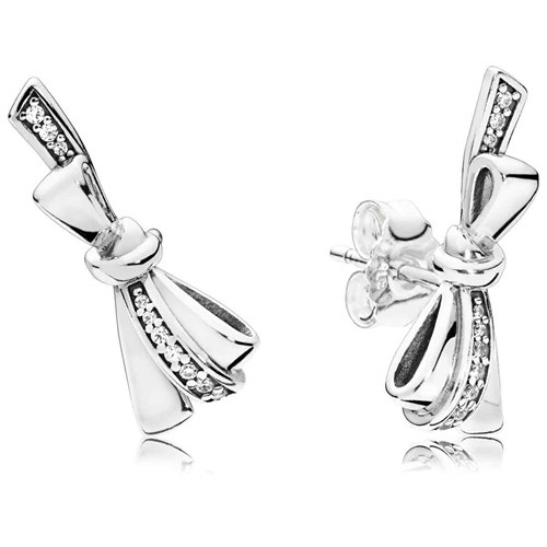 PANDORA Brilliant Bows Stud Earrings 297234CZ