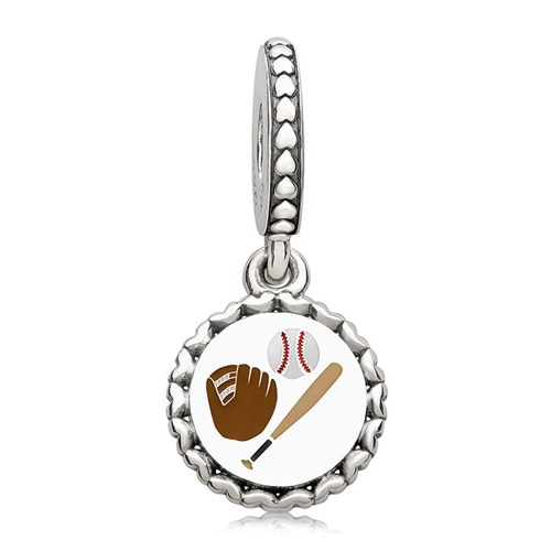 PANDORA Baseball Dangle Charm