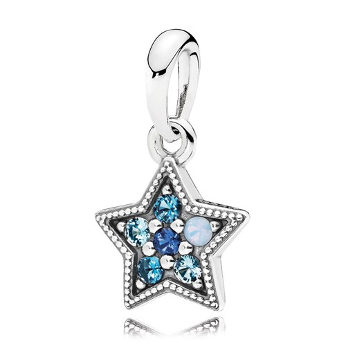 PANDORA Bright Star Multi-Colored Crystals Pendant