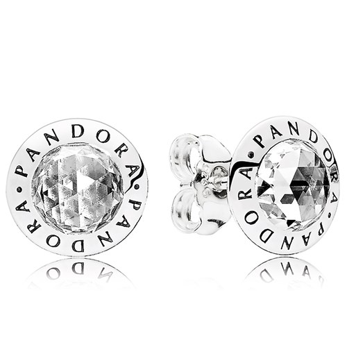 Radiant PANDORA Logo CZ Stud Earrings