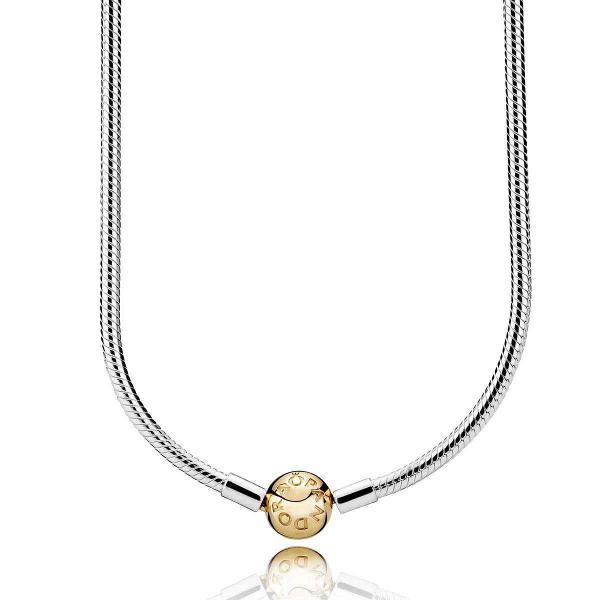 Pandora Women Gold Plated Pendant Necklace - 580515CZ-45 IxvRTyTdou