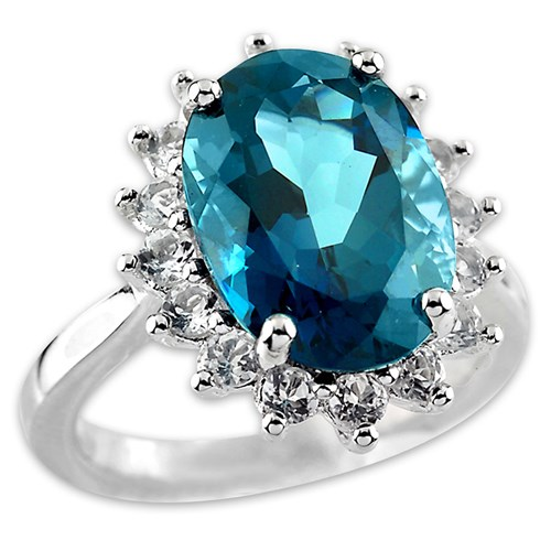 Elisa Ilana London Blue Topaz Ring
