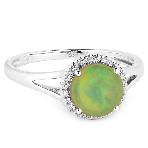 Opal & Diamond 14K Ring