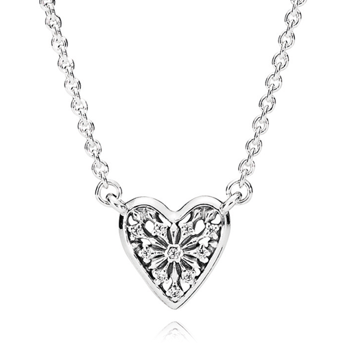 PANDORA Petite Heart of Winter CZ Necklace