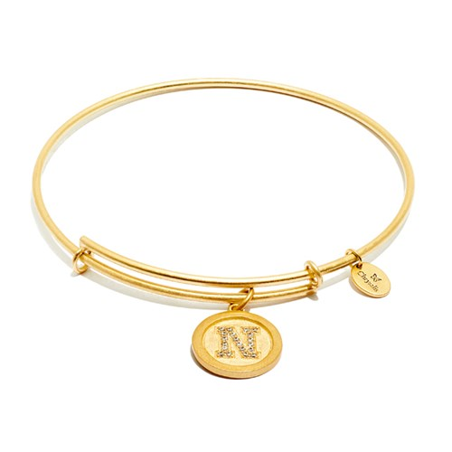 Chrysalis Initial N Gold Bangle