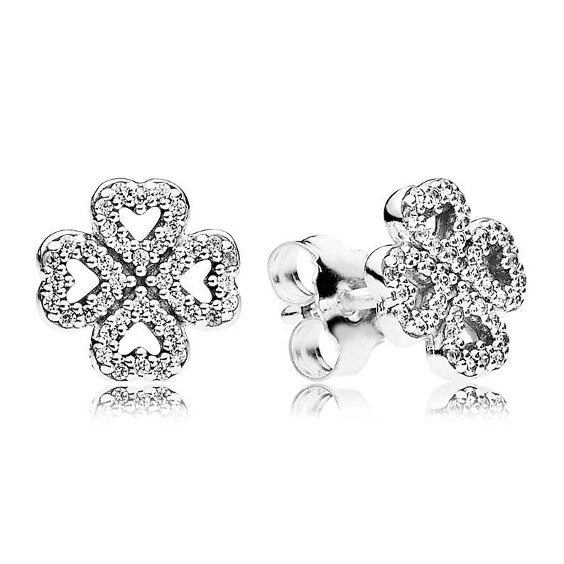 Pandora Women Silver Stud Earrings - 297298CZ lQ6JtrJz3