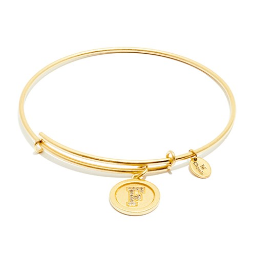 Chrysalis Initial F Gold Bangle