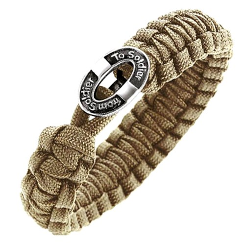 From Soldier to Soldier Sand Button Clasp Bracelet