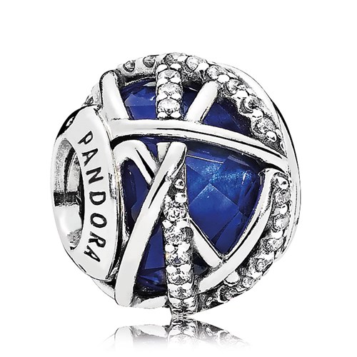 PANDORA Galaxy Royal Blue Crystal & Clear CZ Charm